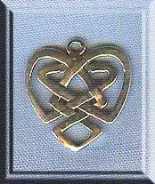 Sterling Silver Celtic Heart Charm Jewelry