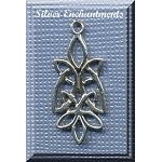 Sterling Silver Celtic Leaf Knot Charm, 28x12mm
