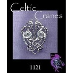 Sterling Silver Celtic Birds Charm