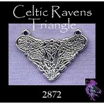 Sterling Silver Celtic Raven Y Necklace Centerpiece Connector