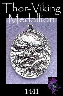 Sterling Silver Norse God Medallion, Odin Necklace