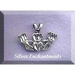Sterling Silver Bailed Claddaugh Charm