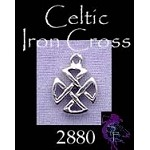 Sterling Silver Celtic Knot, Small Celtic Iron Cross Necklace