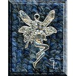 Sterling Silver Victorian Fairy Charm, 26x18mm