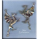 Sterling Silver Dragon Pendant, 3-Dimensional Dragon Jewelry