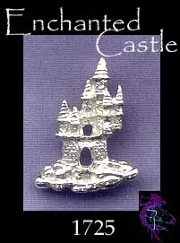 Sterling Silver Fantasy Castle Pendant with Hidden Bail