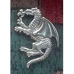 Sterling Silver Fire Breathing Dragon Pendant with Hidden Bail
