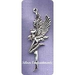 Sterling Silver Fairy Pendant, 28x24mm