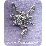 Sterling Silver Fairy Pendant with Hidden Bail, 33x22mm
