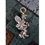 Sterling Silver 3D Fairy on a Branch Charm