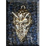 Sterling Silver Horned God Pendant, Horned God Jewelry