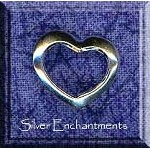 Sterling Silver Floating Heart Charm, 14x16mm