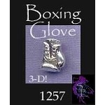 Sterling Silver Boxing Glove Charm, Boxing Jewelry