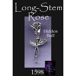 Sterling Silver Long Stem Rose Pendant