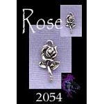 Sterling Silver Small Rose Charm, Rose Jewelry