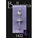 Sterling Silver Ballerina Charm