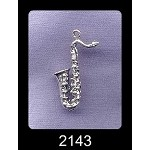 Sterling Silver 3D Saxophone Charm Pendant