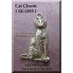 Sterling Silver Cat Pendant, Cat Jewelry