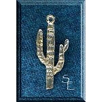 Sterling Silver Saguaro Pendant, Southwestern Cactus Jewelry