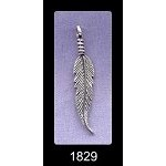 Sterling Silver Feather Pendant, Bailed 3D Double Sided Feather Pendant, Feather Jewelry