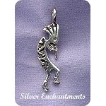 Sterling Silver Bailed Kokopelli Pendant