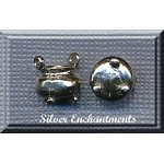 Sterling Silver 3D Cauldron Charm