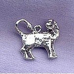Sterling Silver Leo Charm, Lion Charm, Zodiac Astrology