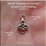 Sterling Silver Small Triquetra Jewelry Connector, Celtic Jewelry Supply