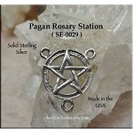 Sterling Silver Pentacle Rosary or Y Necklace Finding