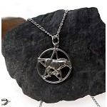 Sterling Silver Horse Pentacle Necklace, Horse Pentagram Pendant, Wiccan-Pagan Jewelry