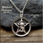 Sterling Silver Mermaid Pentacle Pendant