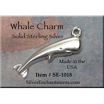 Sterling Silver Whale Charm, Whale Necklace