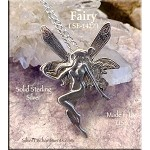 Sterling Silver Fairy Pendant, 38x28mm