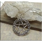 Sterling Silver Celtic Pentacle Pendant, 29x25mm