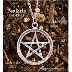 Sterling Silver Classic Pentacle Pendant