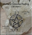 Sterling Silver Classic Pentacle Links, Pagan Jewelry Connectors (1)