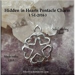 Sterling Silver Hidden in Hearts Pentacle Charm