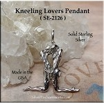 Sterling Silver Kneeling Lovers Pendant, Great Rite Jewelry