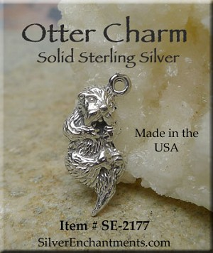 Sterling Silver Otter Charm
