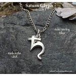 Sterling Silver Saturn Symbol Charm - Saturn Astrological Glyph Jewelry
