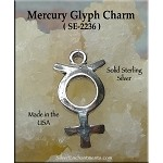 Sterling Silver Mercury Symbol Charm Astrological Glyph Jewelry