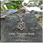 Sterling Silver Triquetra Heart Charm, Celtic Wedding Jewelry