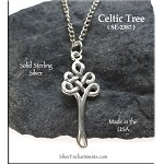 Sterling Silver Celtic Tree of Life Pendant, Tree of Life Necklace