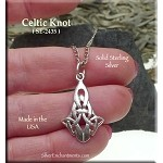 Sterling Silver Celtic Knot Pendant, Celtic Jewelry