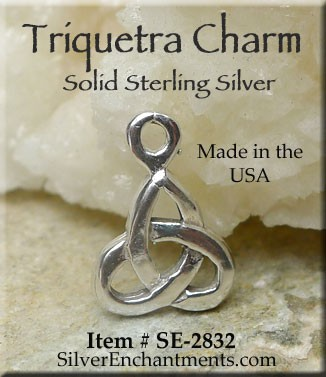 Sterling Silver Triquetra Charm, Trinity Knot Charm, Triquetra Jewelry
