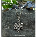 Sterling Silver Celtic Knot Charm, Witch's Knot Necklace