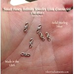 Sterling Silver Small Fancy Infinity Jewelry Link Connector Finding (1)