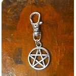 Pentacle Zipper Pull Backpack Clip Purse Fob Pentagram Swivel Clip On Charm