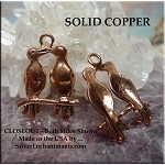 Copper Love Birds Pendant, Raw Copper Casting