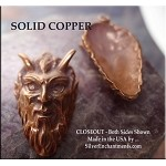 COPPER Horned God Pendant